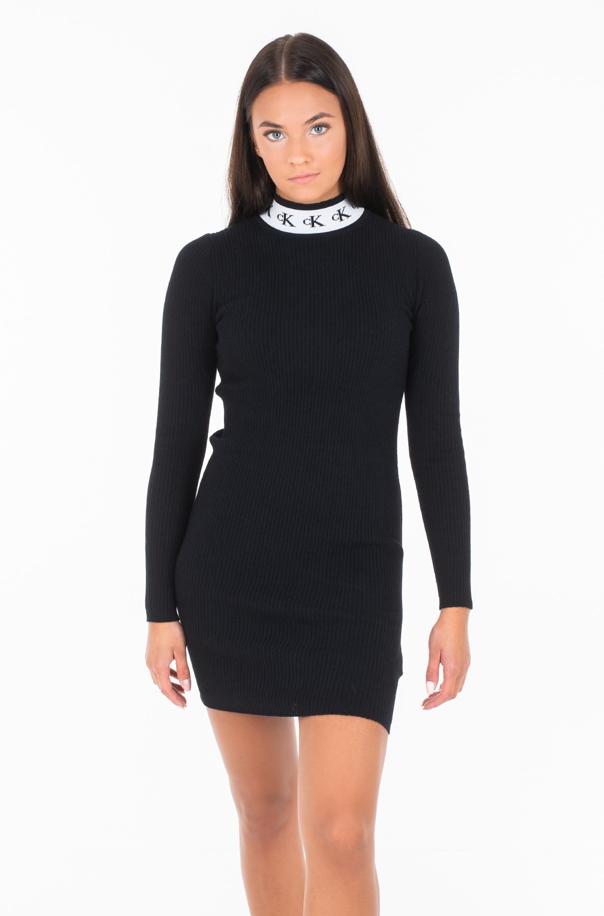 Knitted dress MONOGRAM TAPE SWEATER DRESS J20J212154-full-1