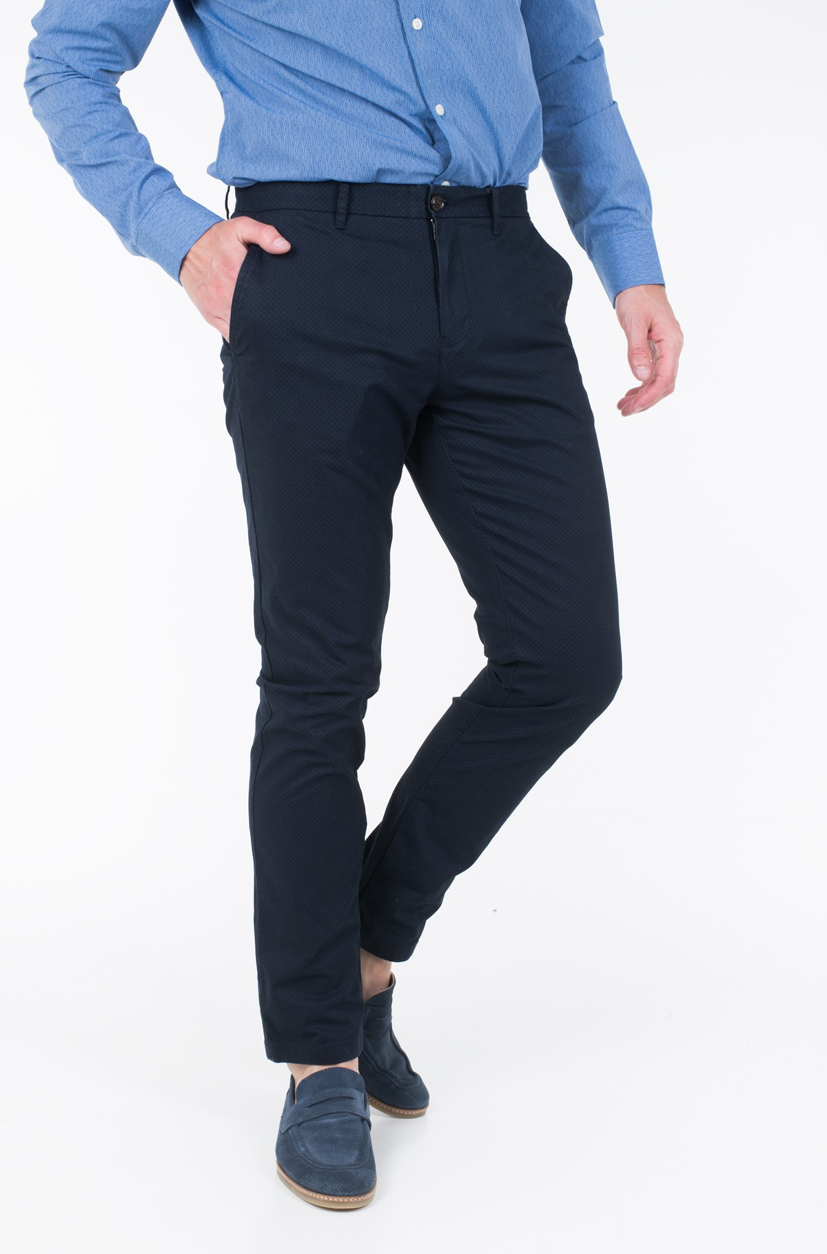 Kelnės STRAIGHT CHINO STR MCR CIRLE PRT	-full-1