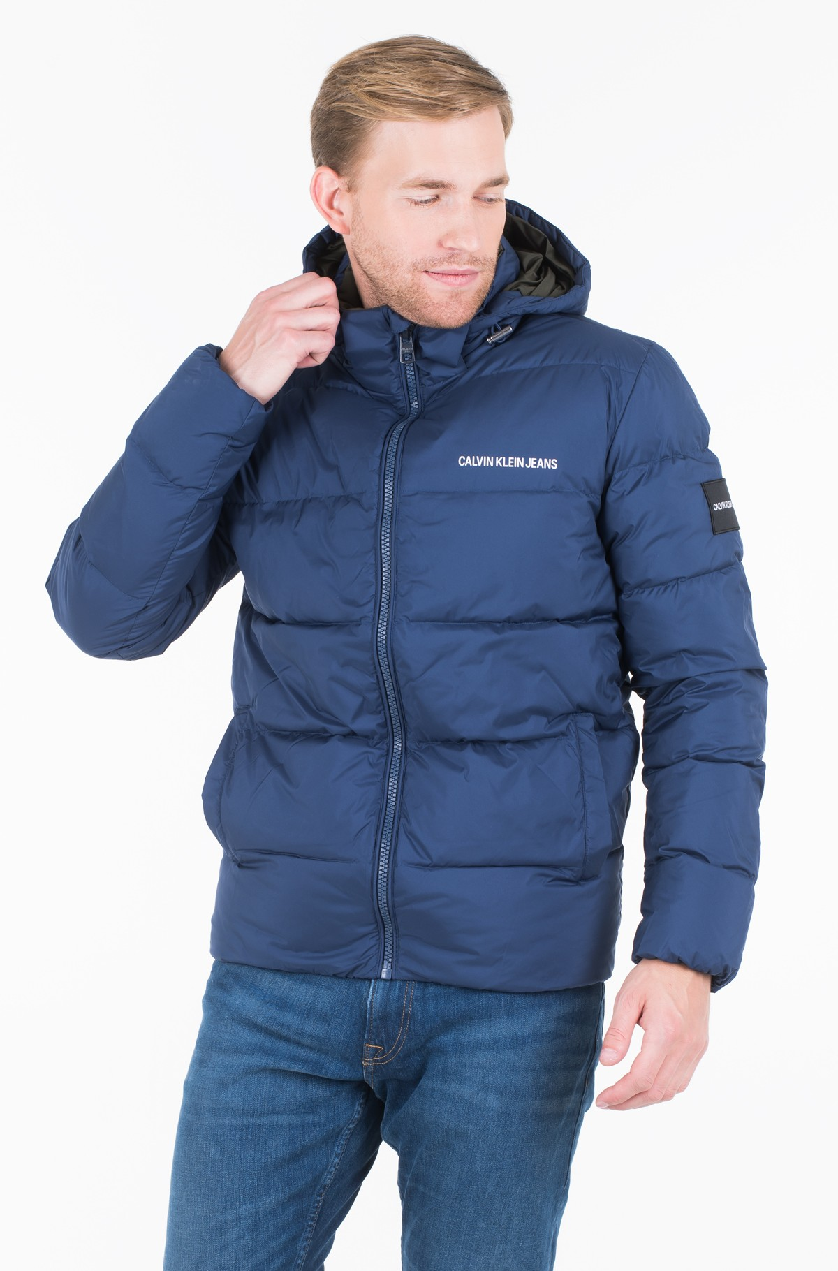 Jacket HOODED DOWN PUFFER JACKET	-full-1