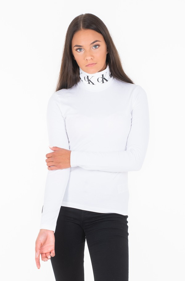 MONOGRAM TAPE ROLL NECK LS TEE J20J212179