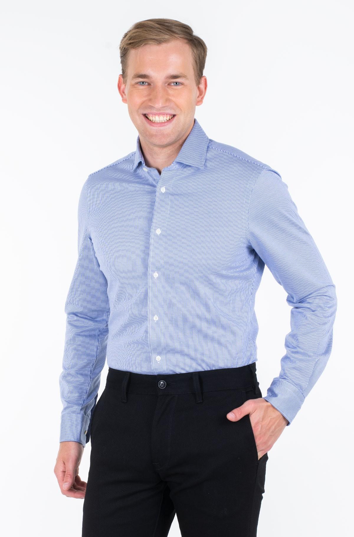 Marškiniai KNITTED STRIPE SLIM SHIRT-full-1