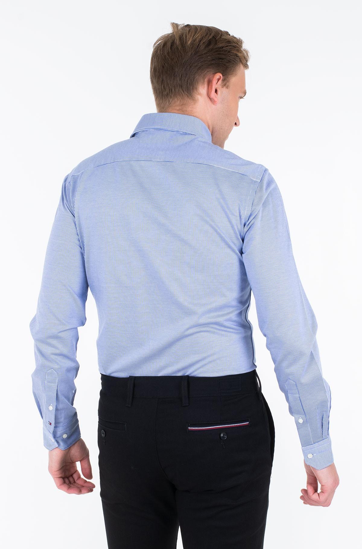 Marškiniai KNITTED STRIPE SLIM SHIRT-full-2
