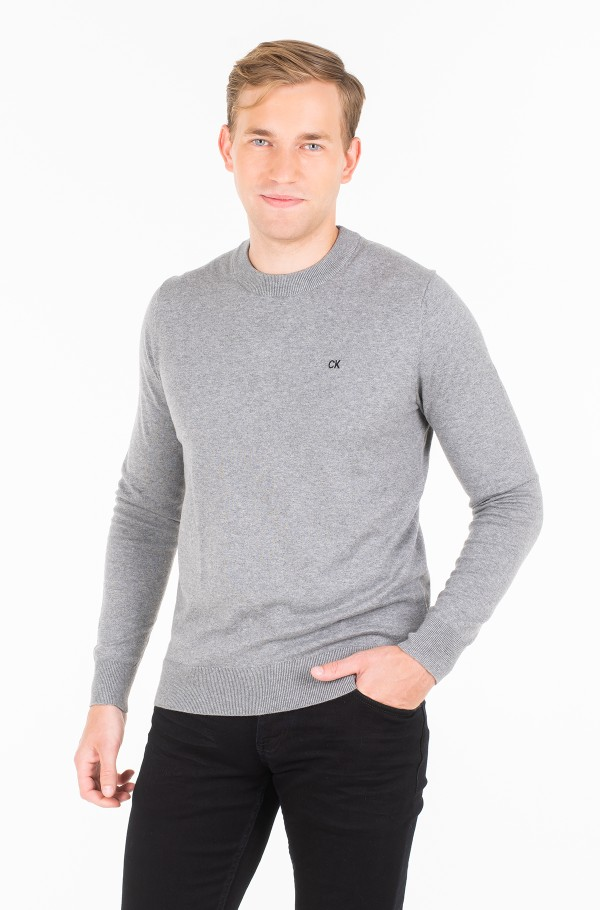 COTTON BLEND CN EMBRO SWEATER
