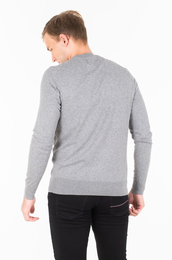 COTTON BLEND CN EMBRO SWEATER-hover