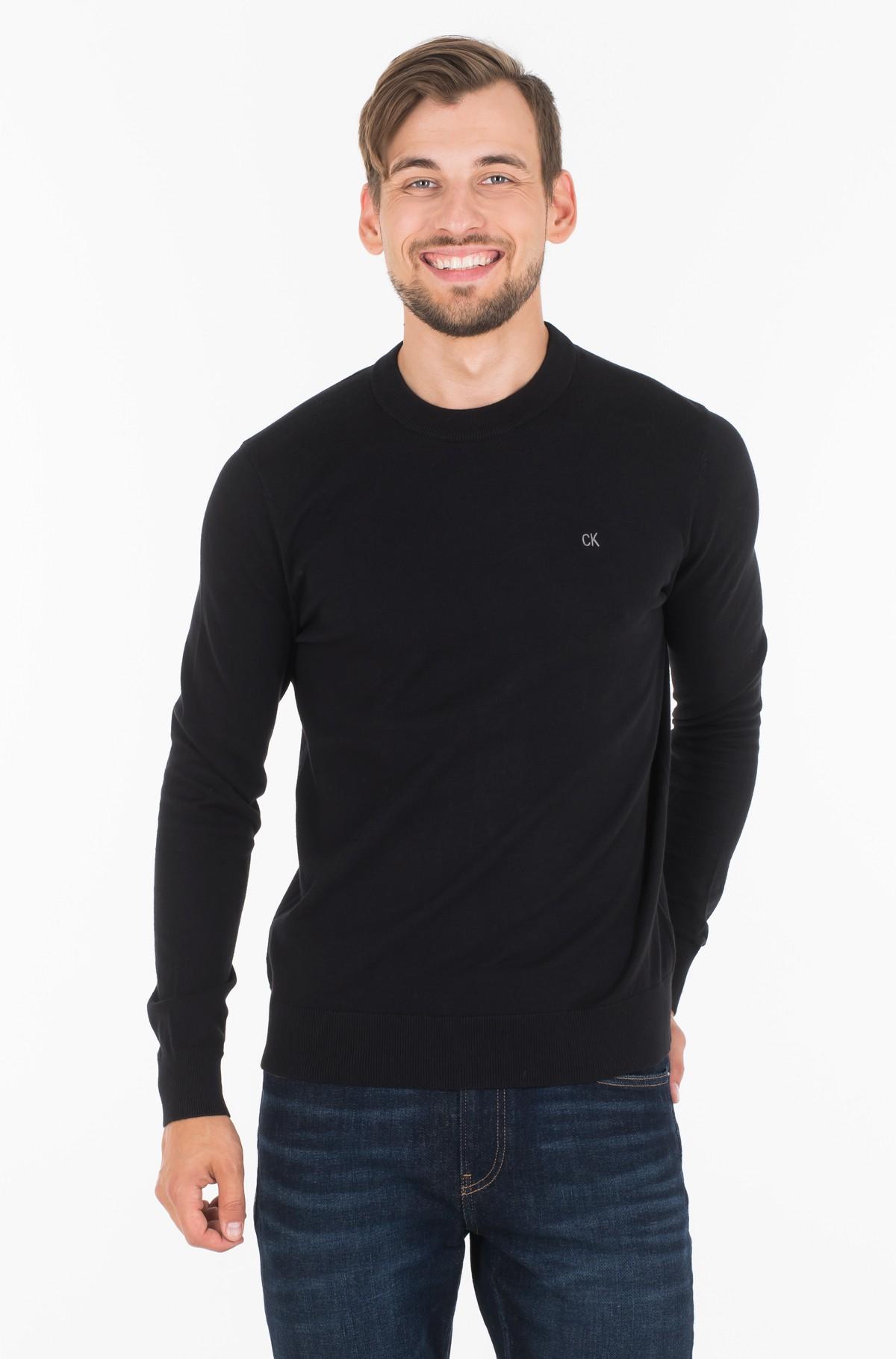 Sweater COTTON BLEND CN EMBRO SWEATER-full-1