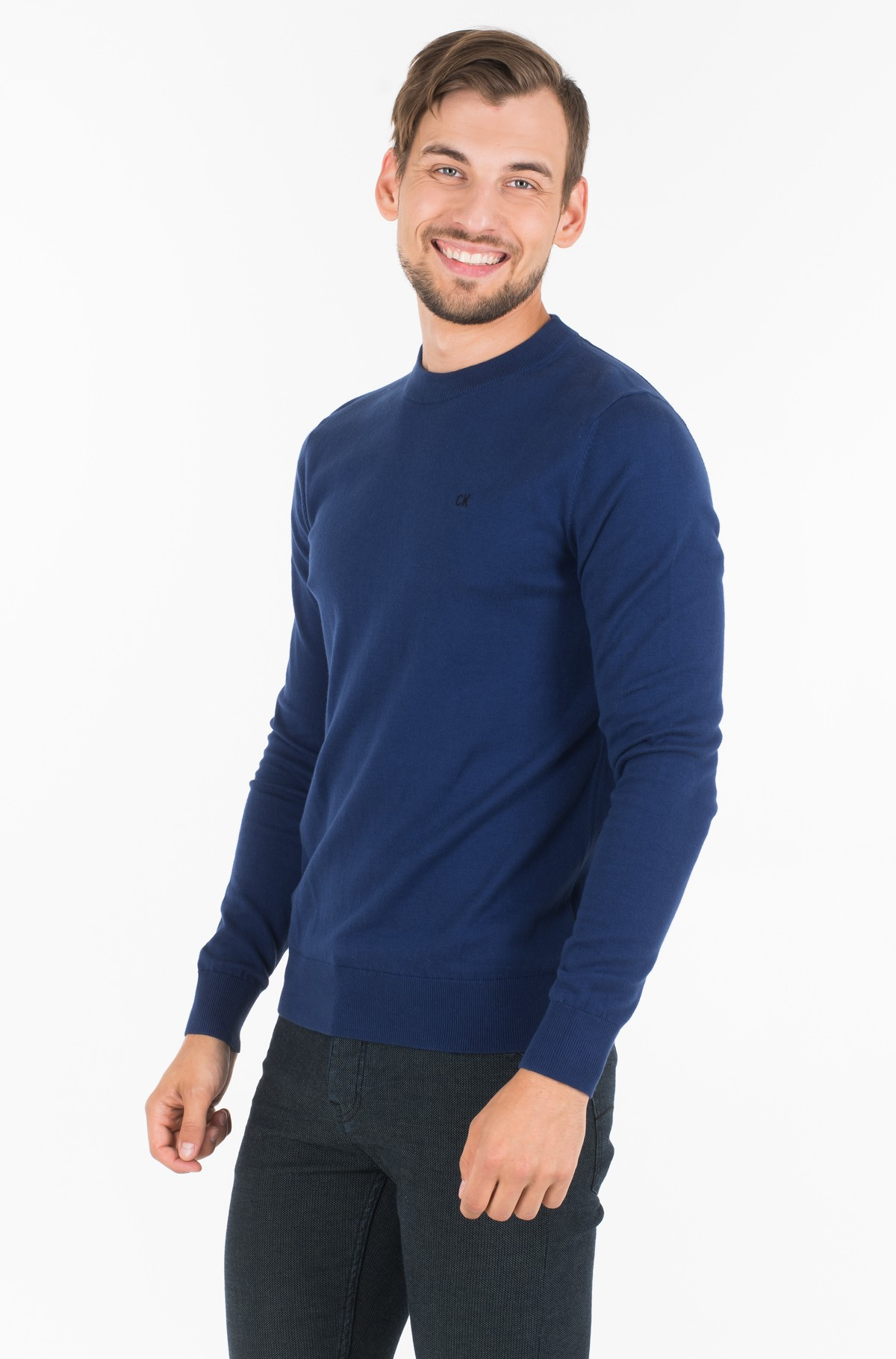 Sviiter COTTON BLEND CN EMBRO SWEATER-full-1
