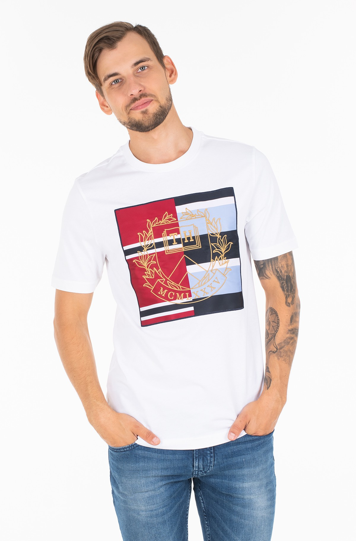 Marškinėliai MIXED CREST RELAXED FIT TEE-full-1