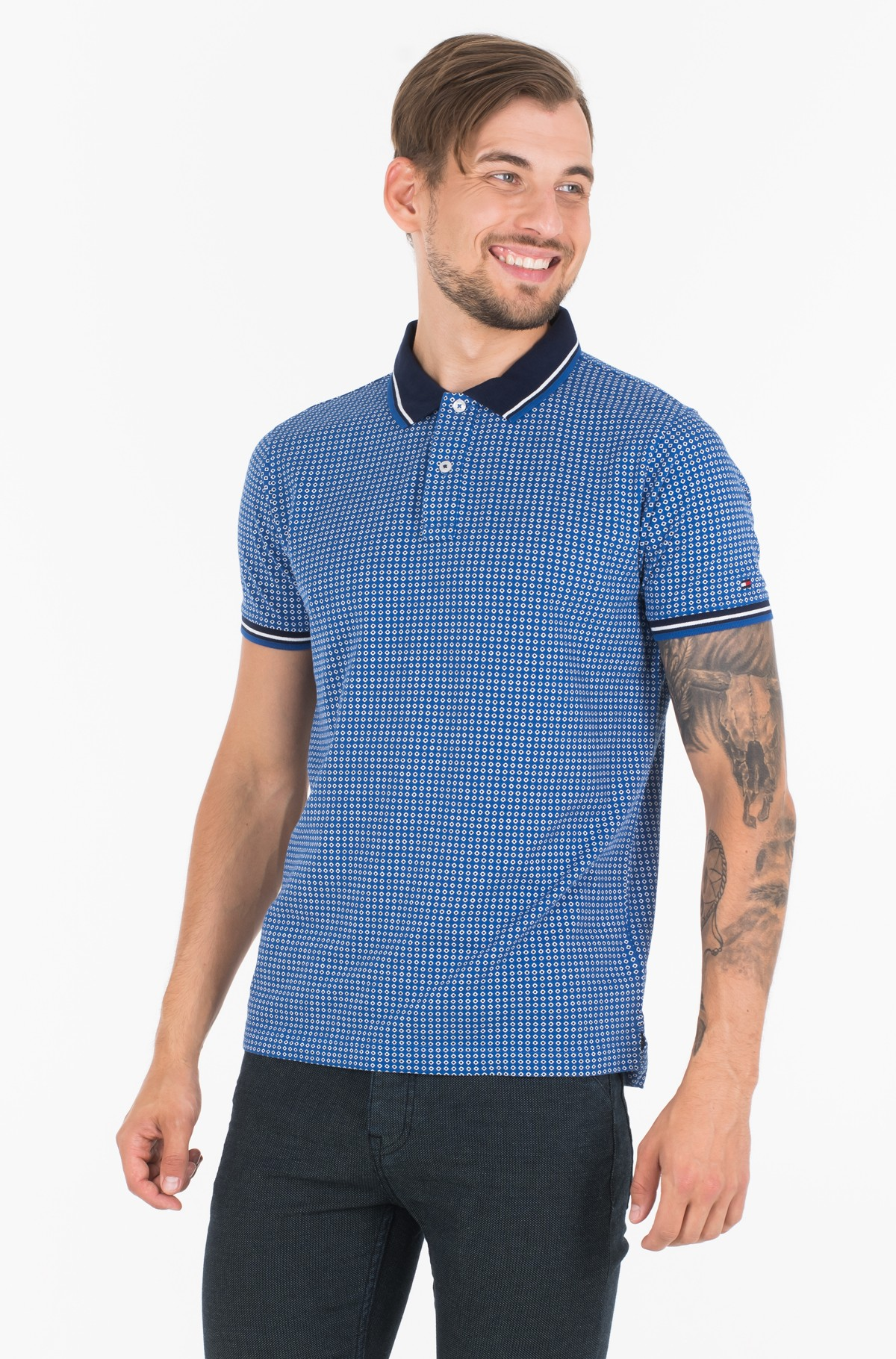 Polo MICRO PRINT SLIM POLO	-full-1