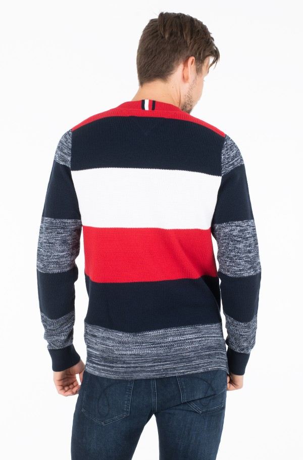 ALLOVER GLOBAL STRIPE SWEATER-hover
