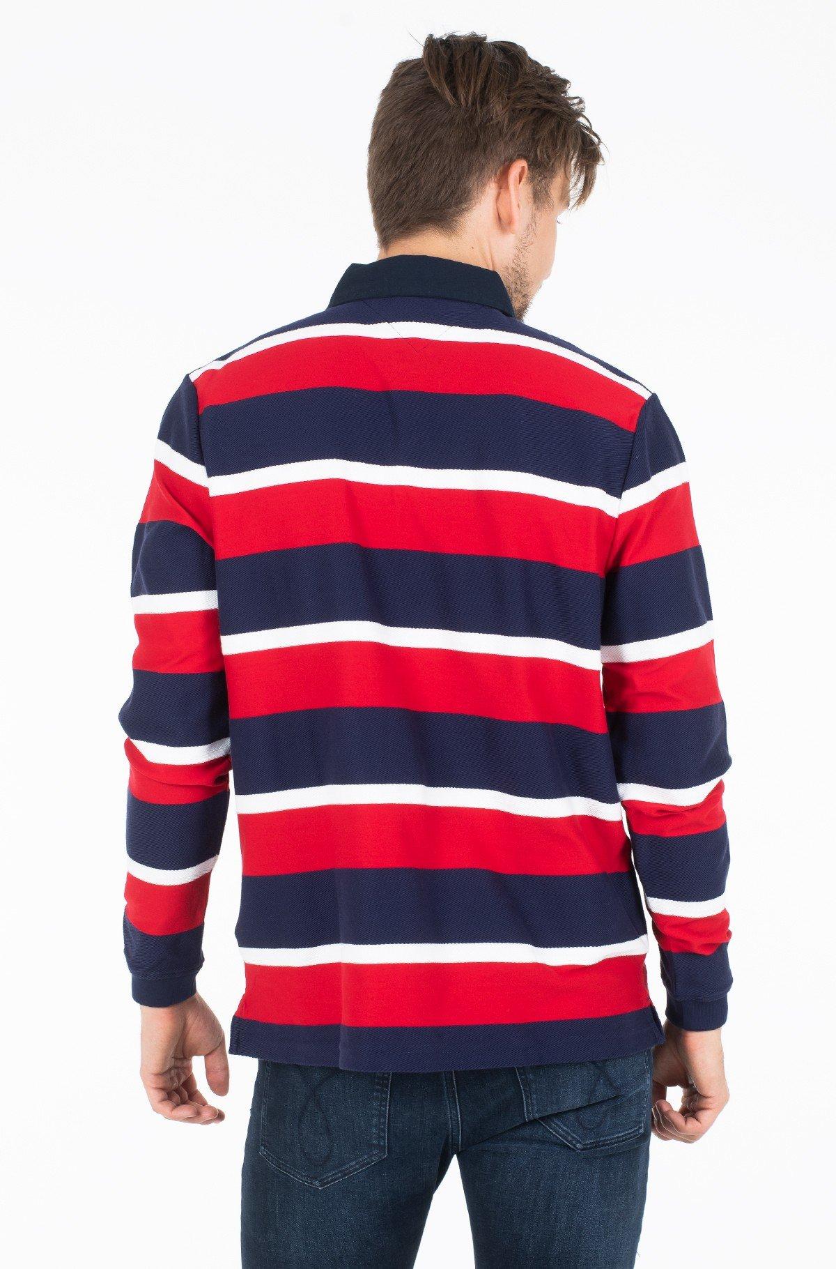 Polo marškinėliai ilgomis rankovėmis HERRINGBONE TEXTURED RUGBY-full-2
