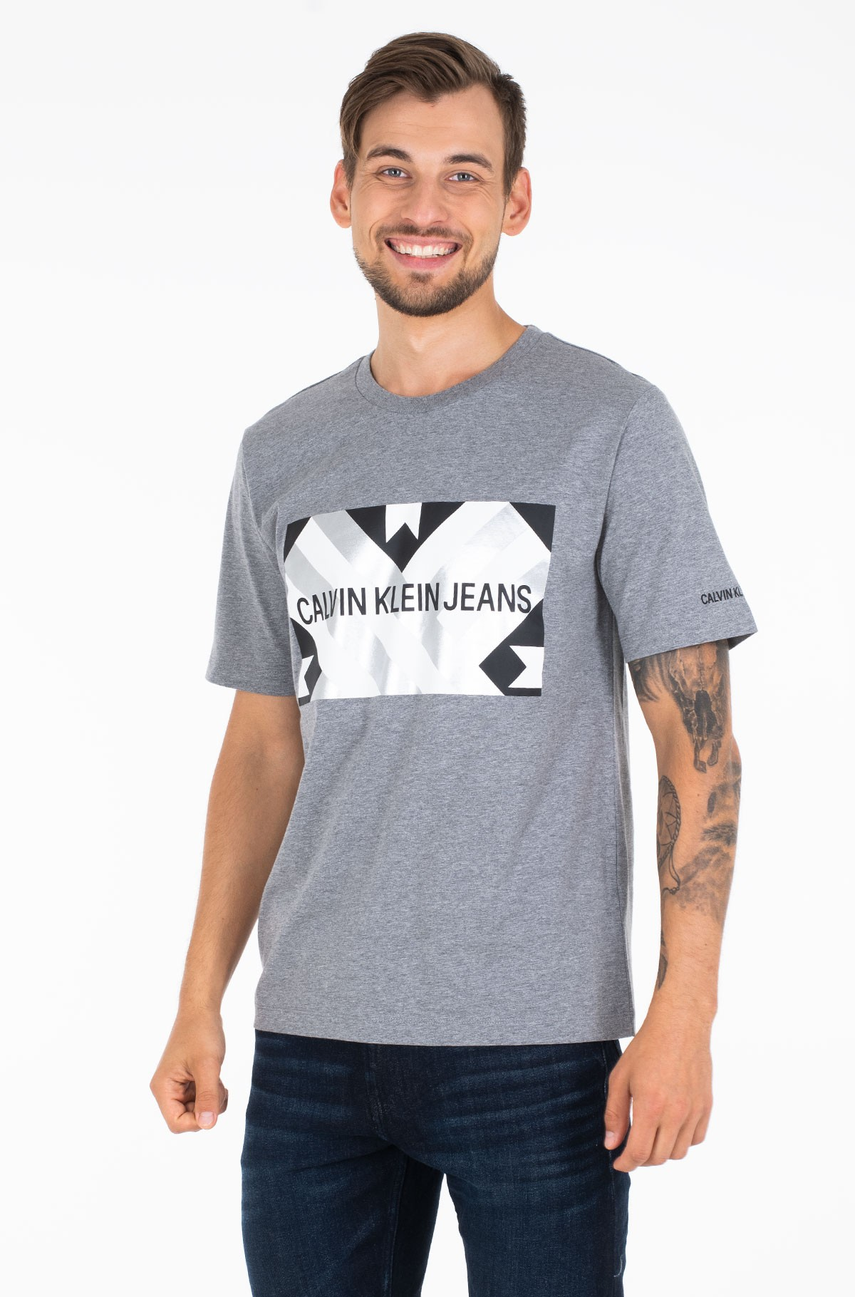 Marškinėliai INST FLAG PATCHWORK REG SS-full-1