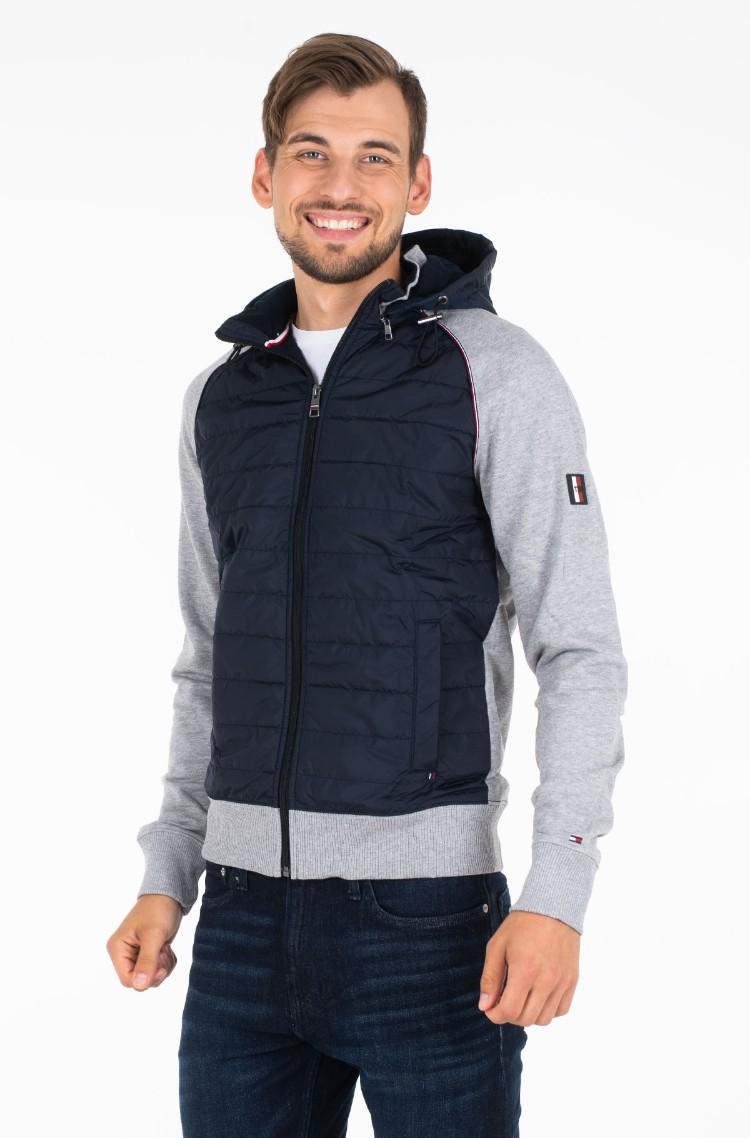 Tommy Hilfiger Herren Mixed Media Zip Through Sweatshirt