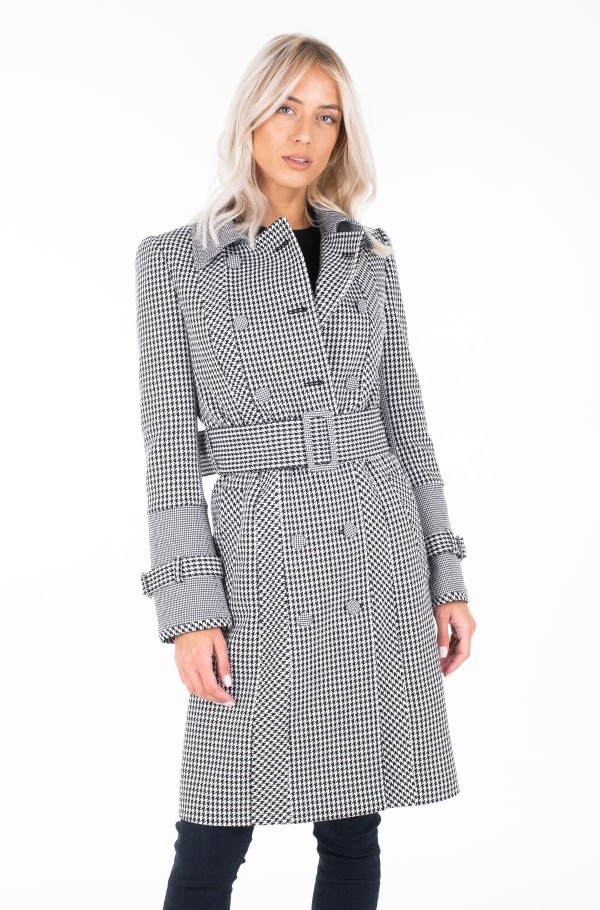 ZENDAYA HOUNDSTOOTH TRENCH COAT