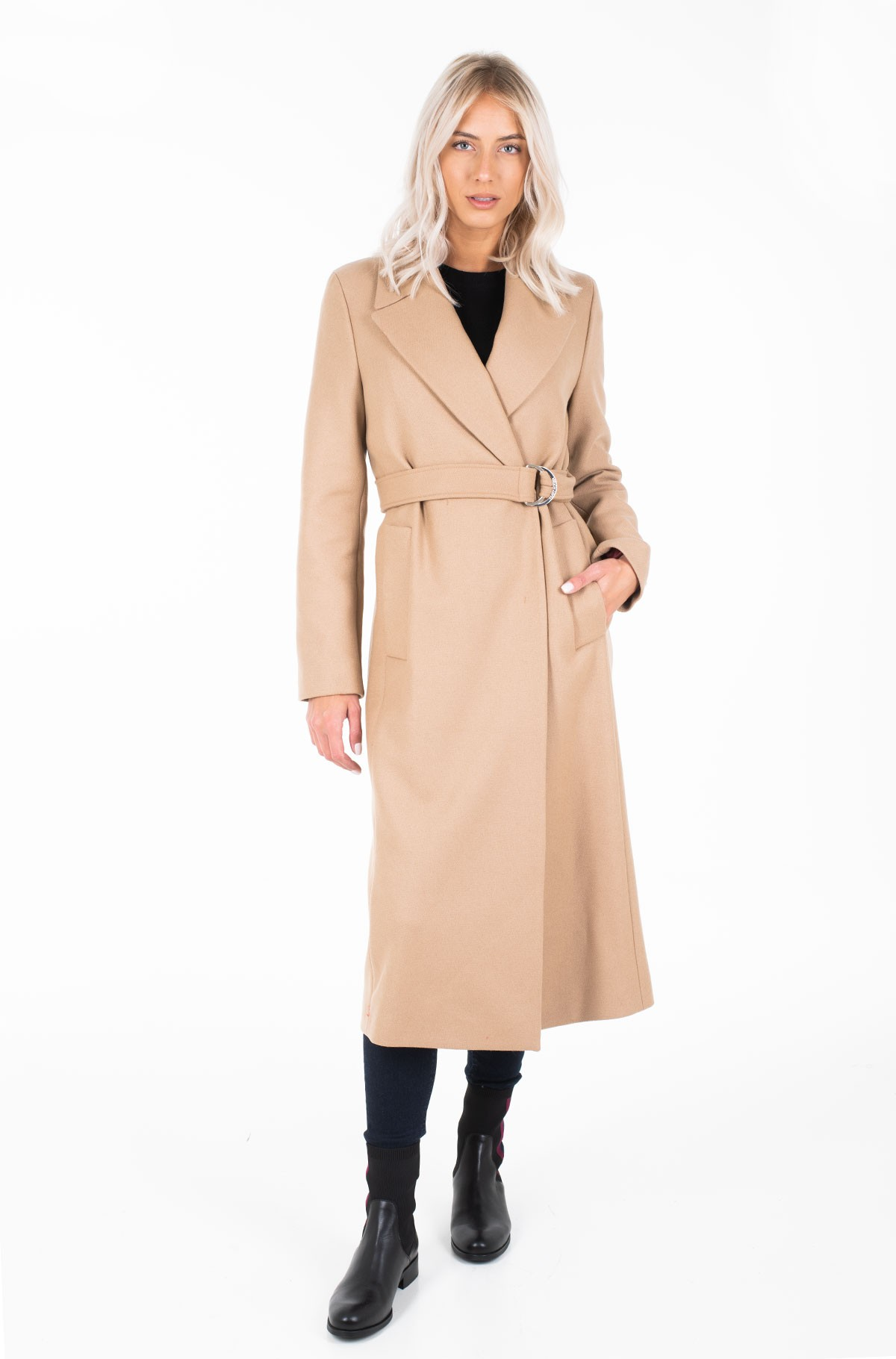 Paltas BELLE WOOL BLEND BELTED COAT-full-1