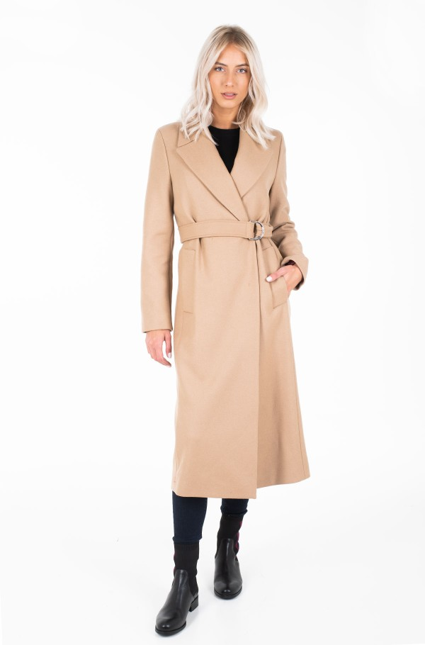 BELLE WOOL BLEND BELTED COAT