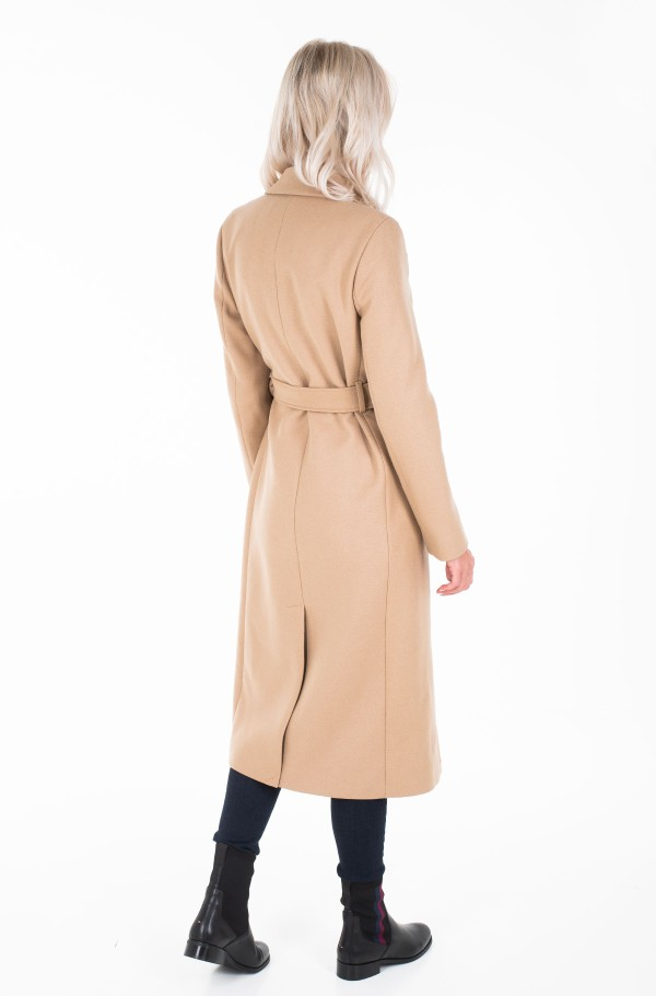BELLE WOOL BLEND BELTED COAT-hover