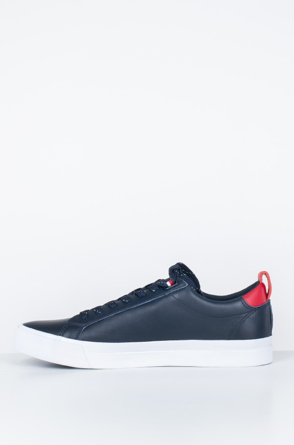 FLAG DETAIL  LEATHER SNEAKER-hover