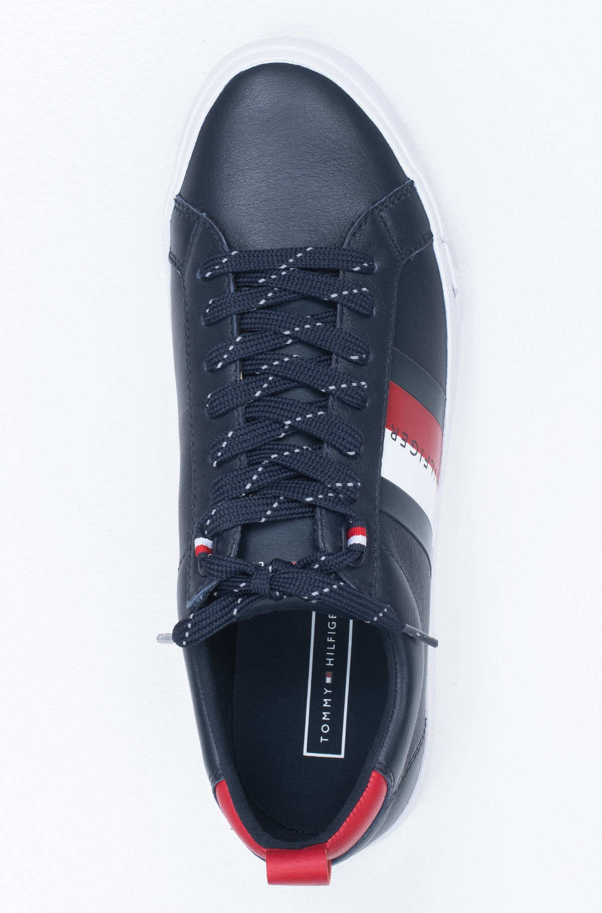 Sportbačiai FLAG DETAIL LEATHER SNEAKER-full-3