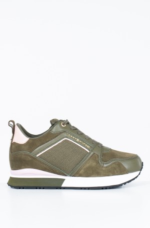 Tennised MIX MATERIAL WEDGE SNEAKER-1