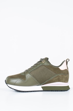 Tennised MIX MATERIAL WEDGE SNEAKER-2