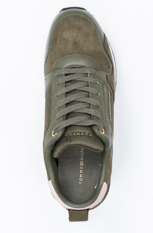 Tennised MIX MATERIAL WEDGE SNEAKER-3
