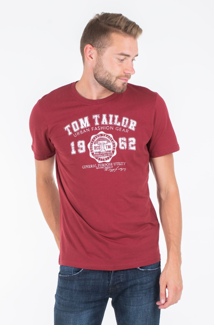new style reputable site big sale red1 T-shirt 1008637 Tom Tailor, Mens Short-sleeved | Denim ...