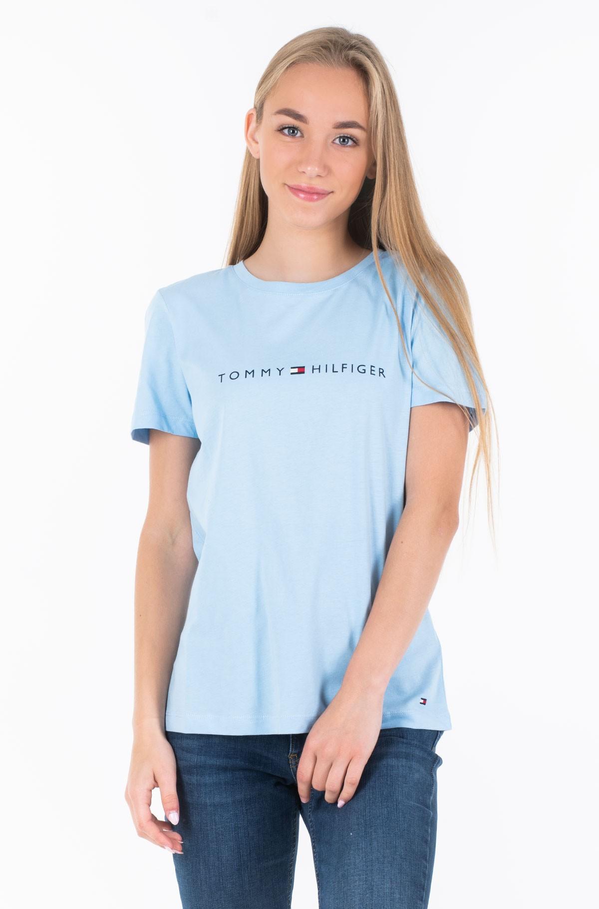Marškinėliai TH ESS HILFIGER CREW NECK TEE SS-full-1