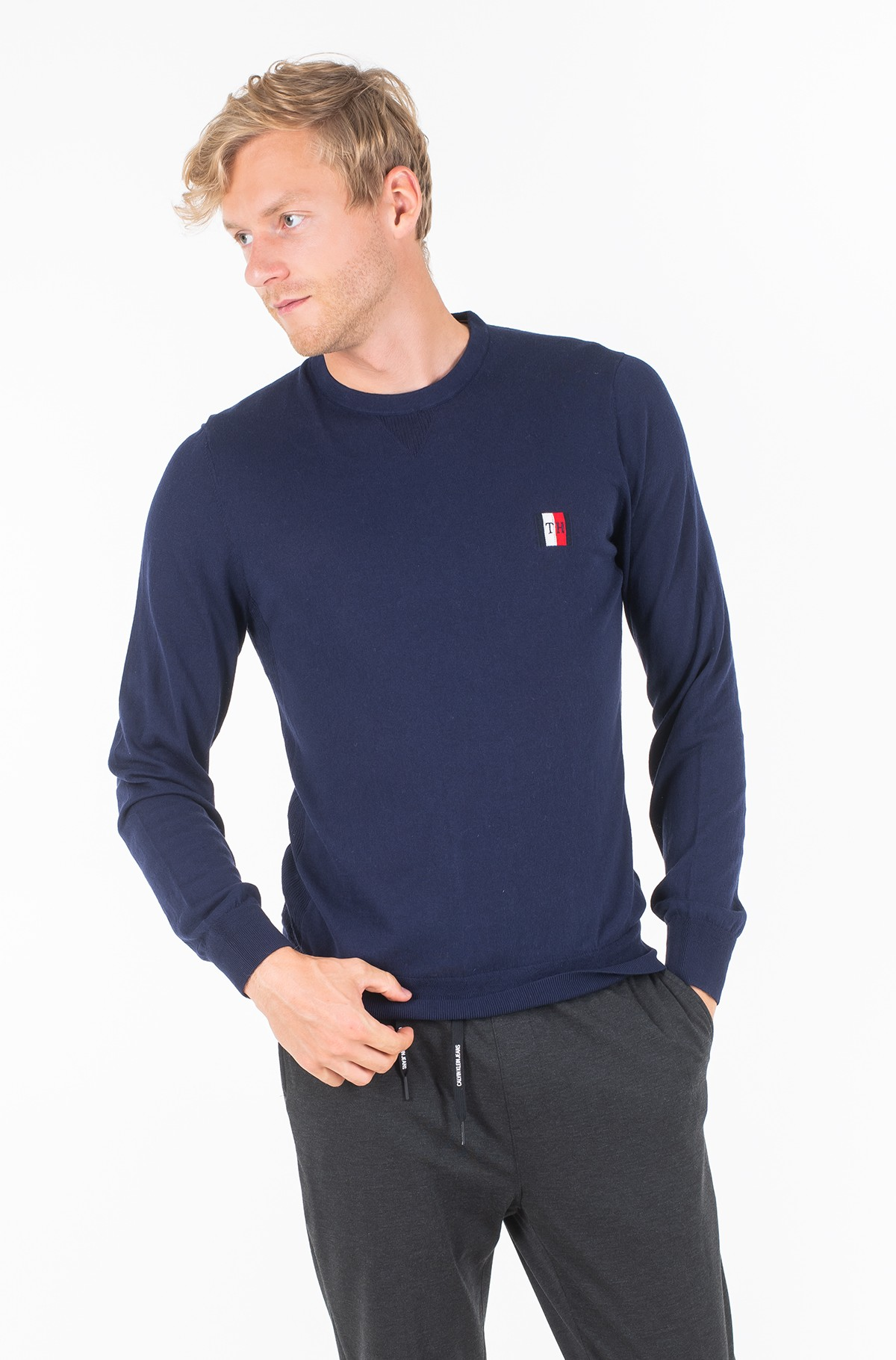 Sweater PERFORMANCE ORGANIC COTTON CREW-full-1