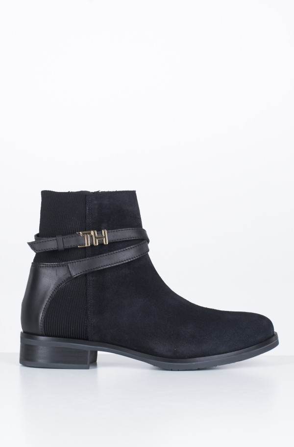 TH HARDWARE SUEDE FLAT BOOTIE