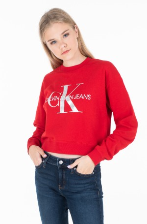 Džemperis SILVER MONOGRAM BOYFRIEND CROP-1