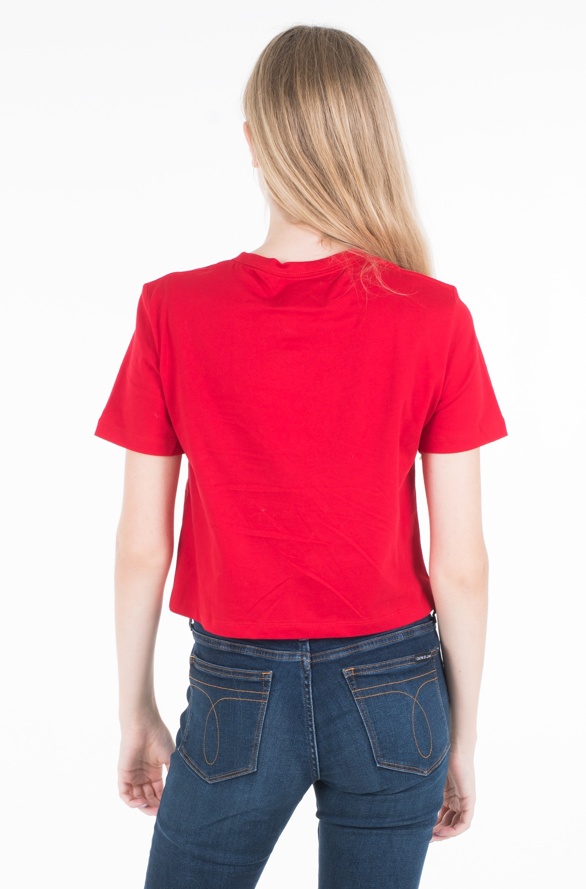 T-krekls MONOGRAM EMBROIDERY CROPPED TEE	-full-2