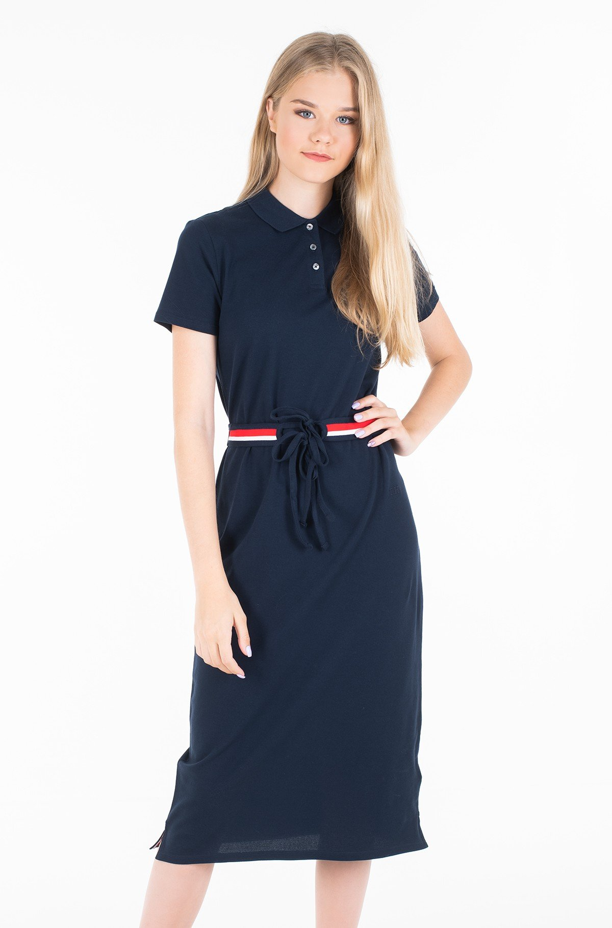 Polo suknelė TH ESSENTIAL POLO DRESS SS-full-1