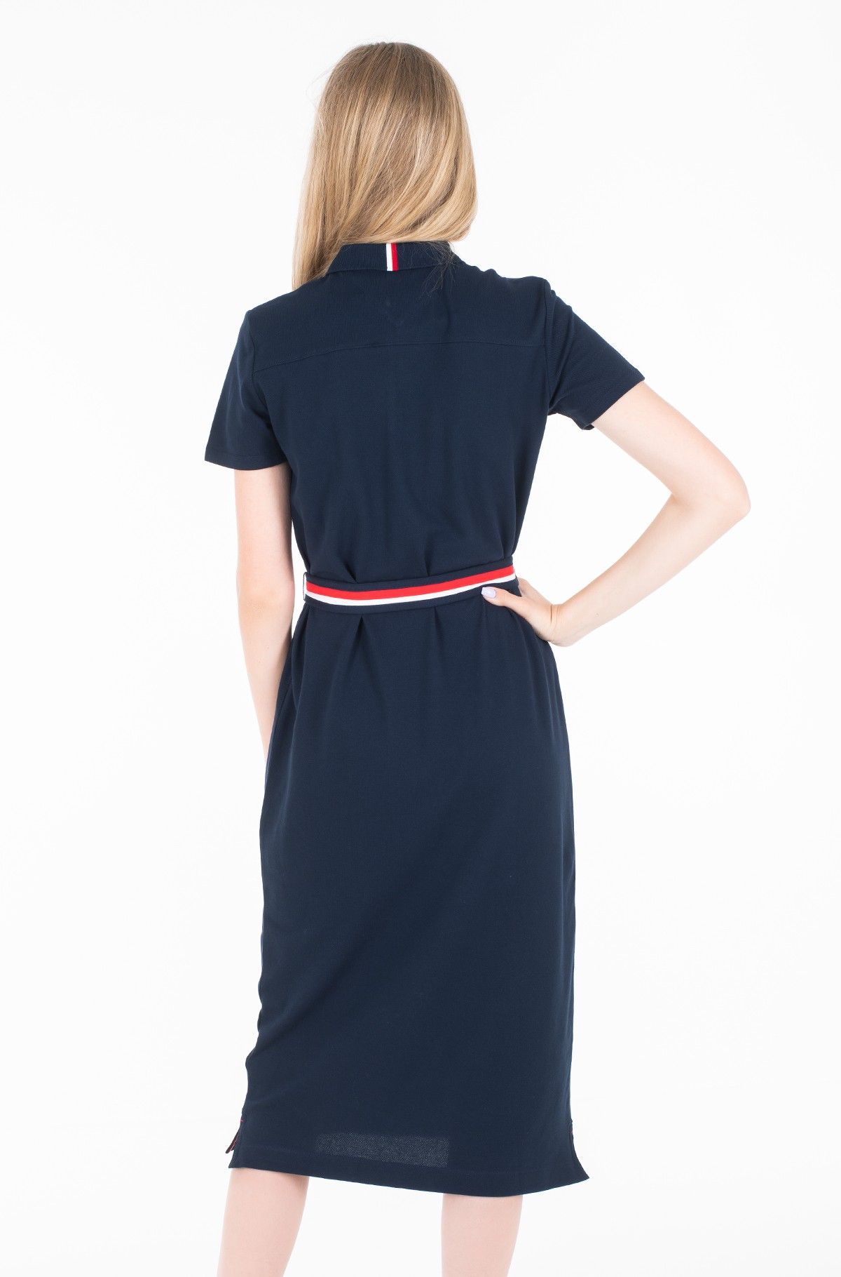 Polo suknelė TH ESSENTIAL POLO DRESS SS-full-2