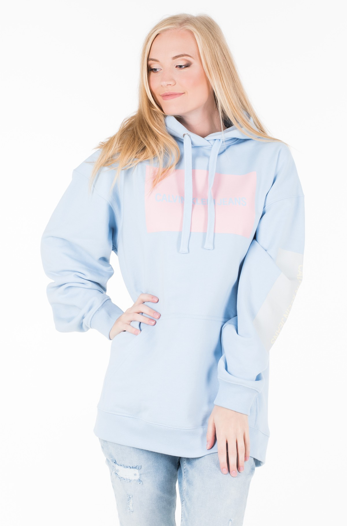 Džemperis MULTI LOGO OVERSIZED HOODIE	-full-1
