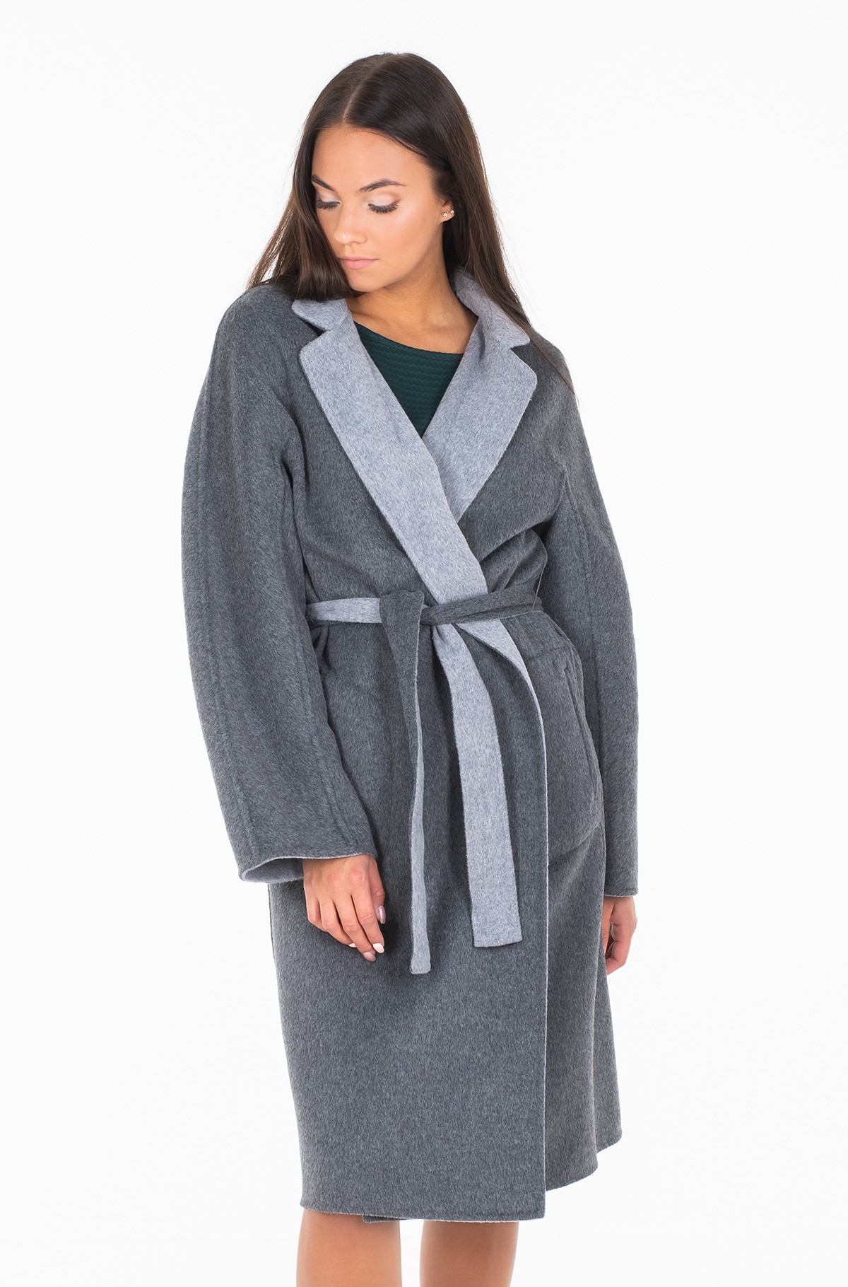 Paltas ALISON REV WOOL BLEND COAT-full-2