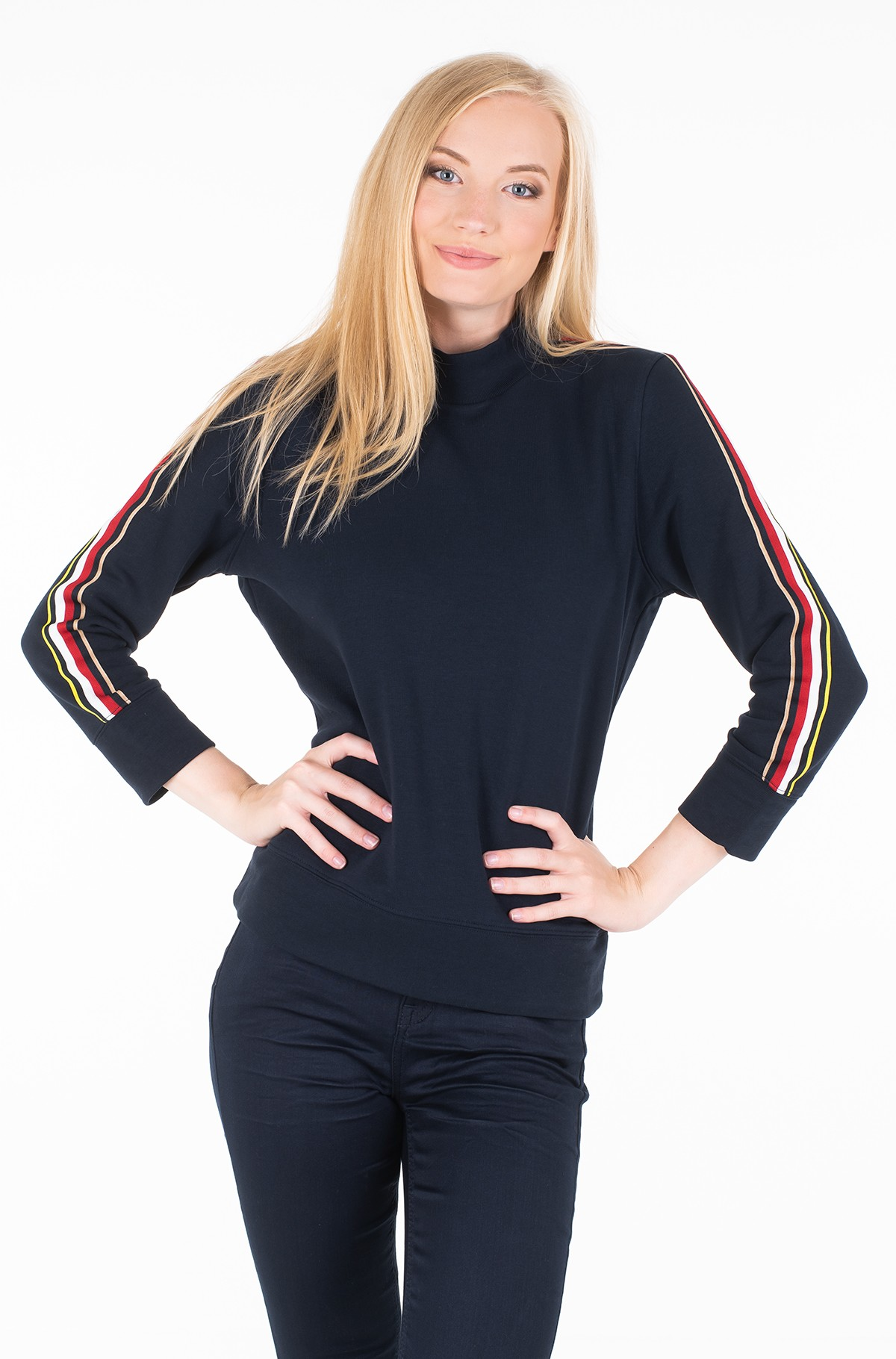 Džemperis DONNA MOCK-NK SWEATSHIRT 3/4 SLV-full-1