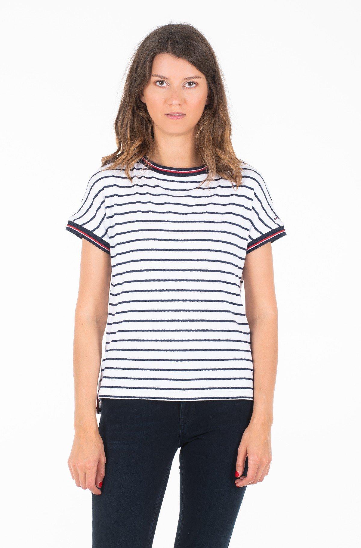 Marškinėliai TJW CREPE STRIPE TEE-full-1