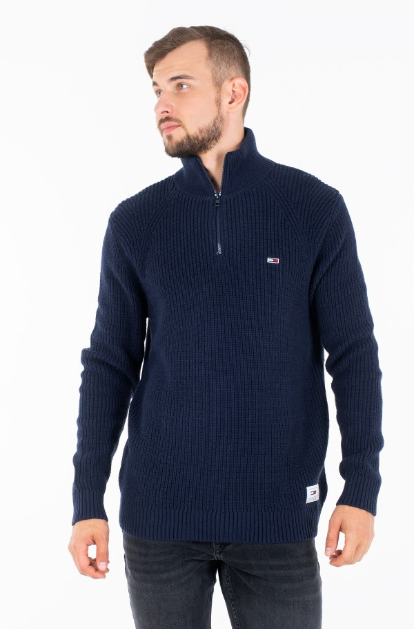 TJM ZIP MOCK NECK