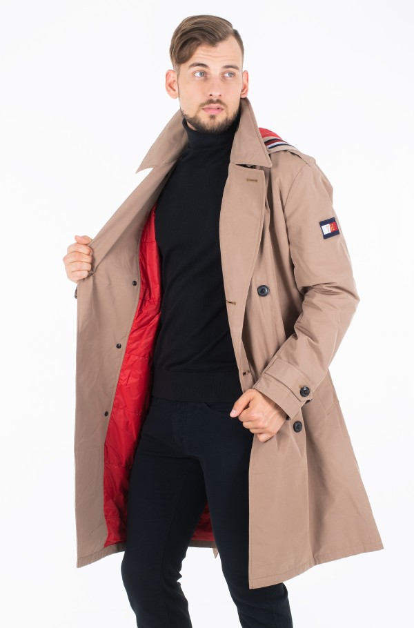 HOODED TRENCHCOAT-hover