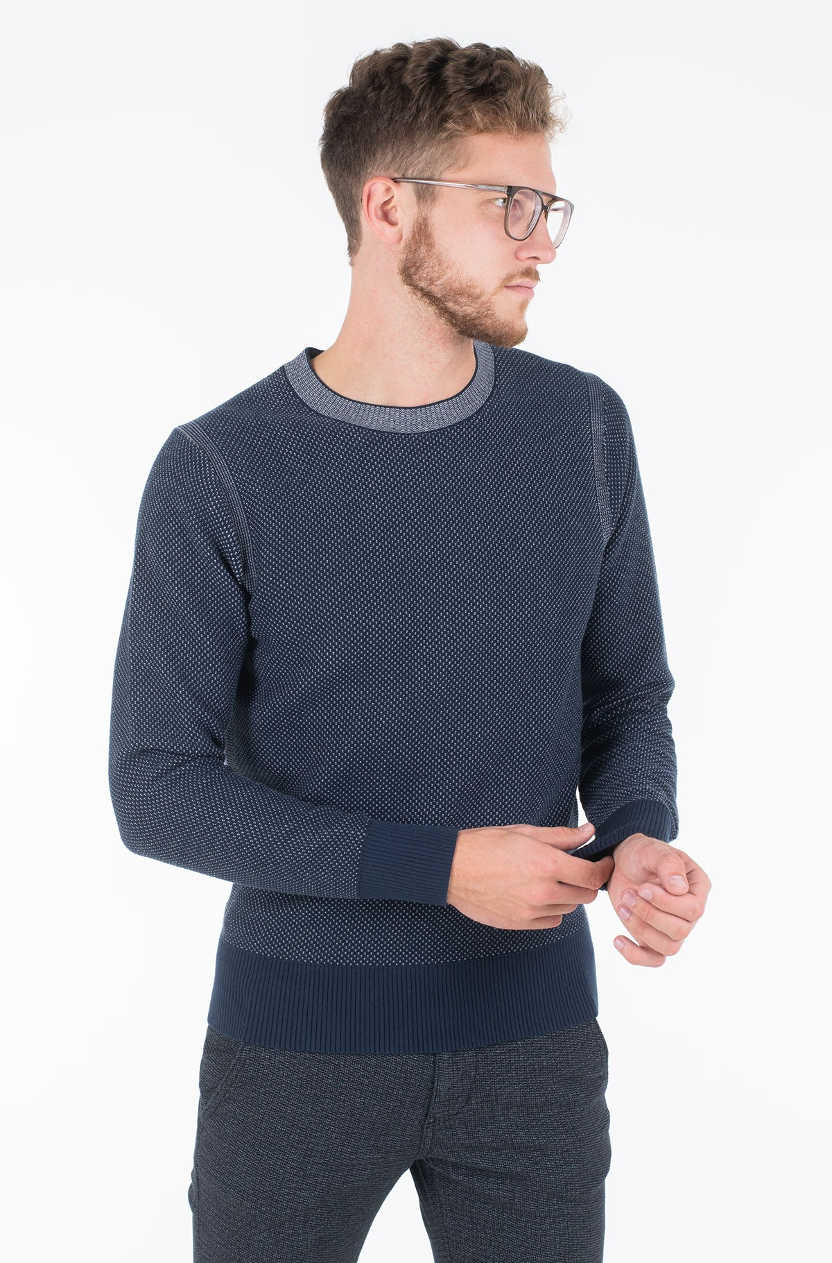 Sweater TWO COLOR STRUCTURED SWEATER-full-1