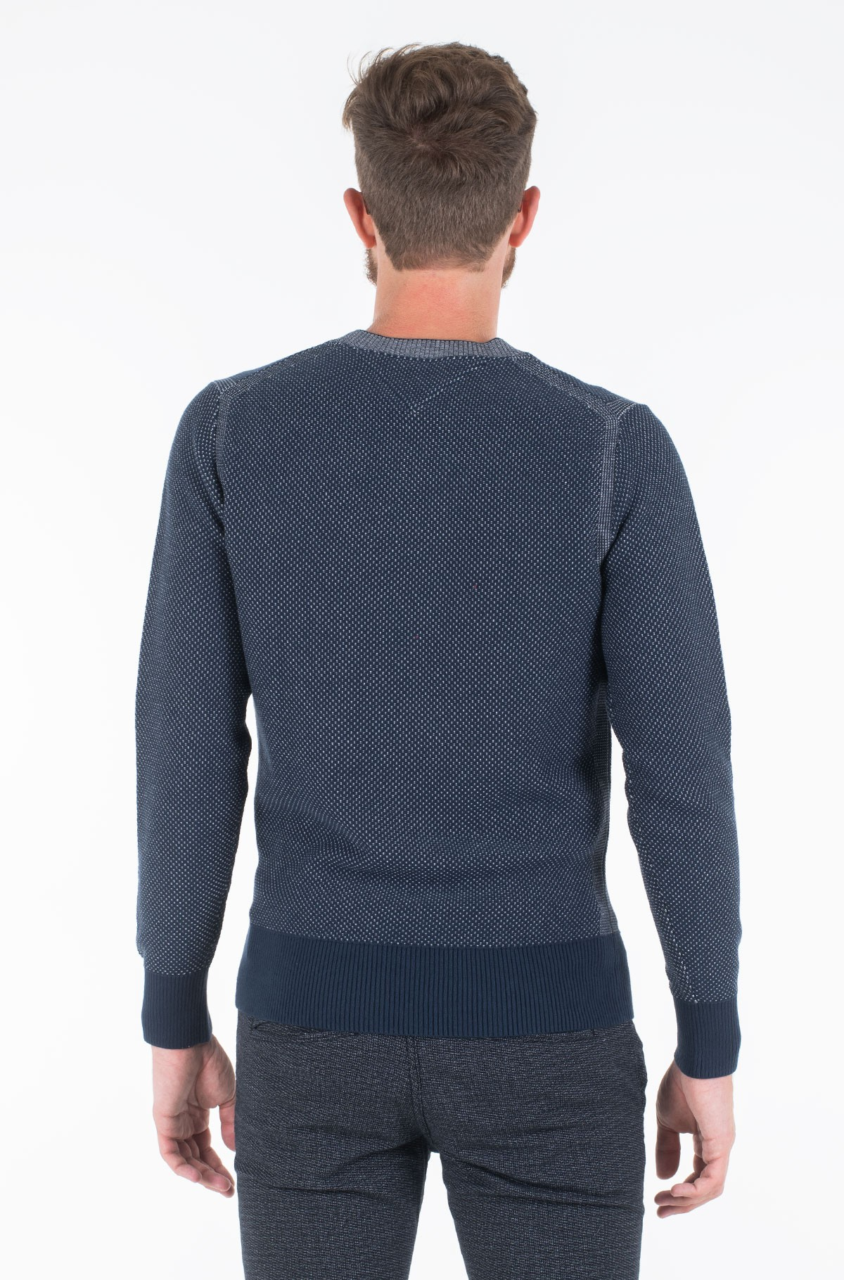 Sweater TWO COLOR STRUCTURED SWEATER-full-2