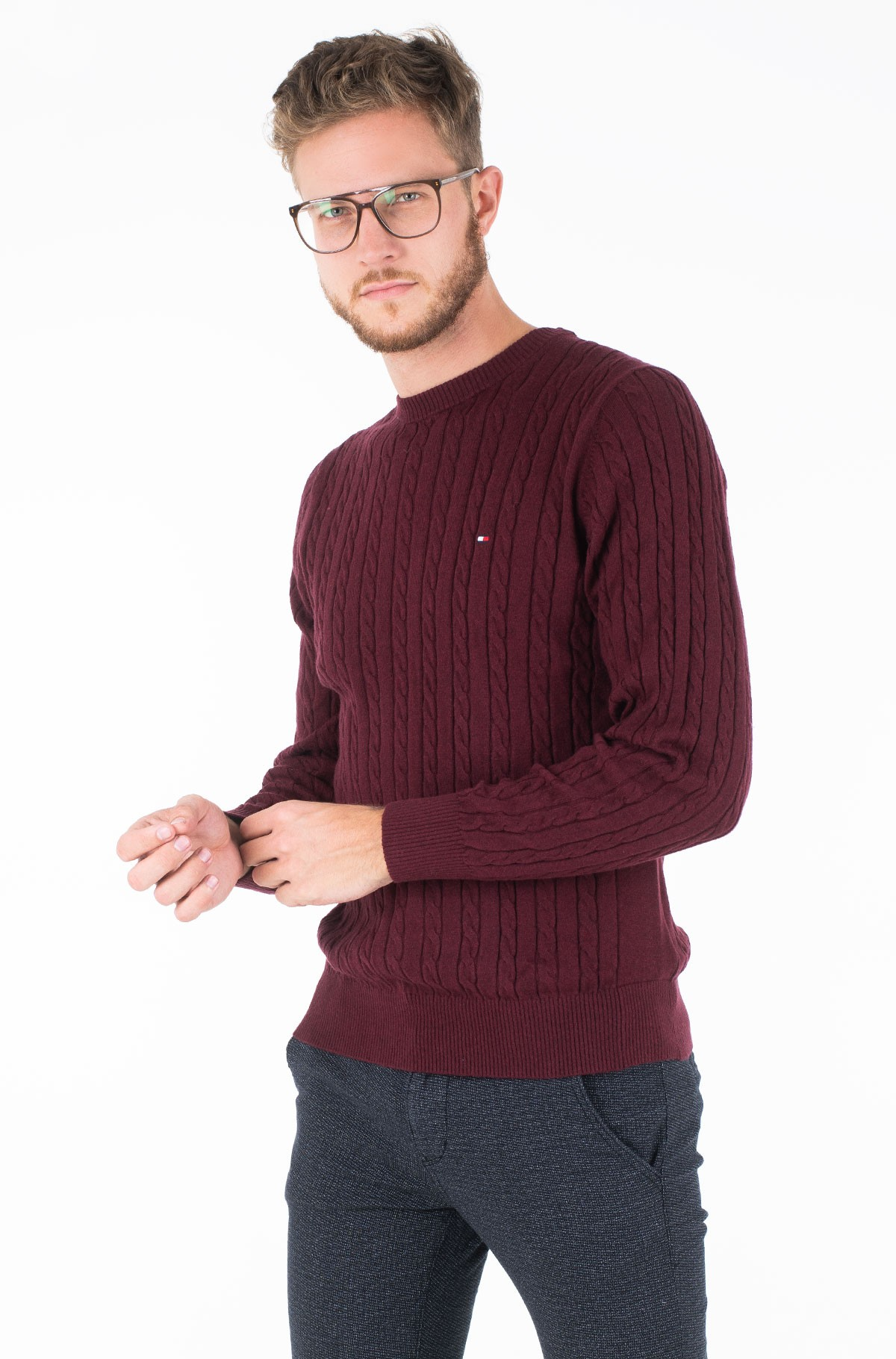 Džemperis CLASSIC CABLE CREW NECK	-full-1