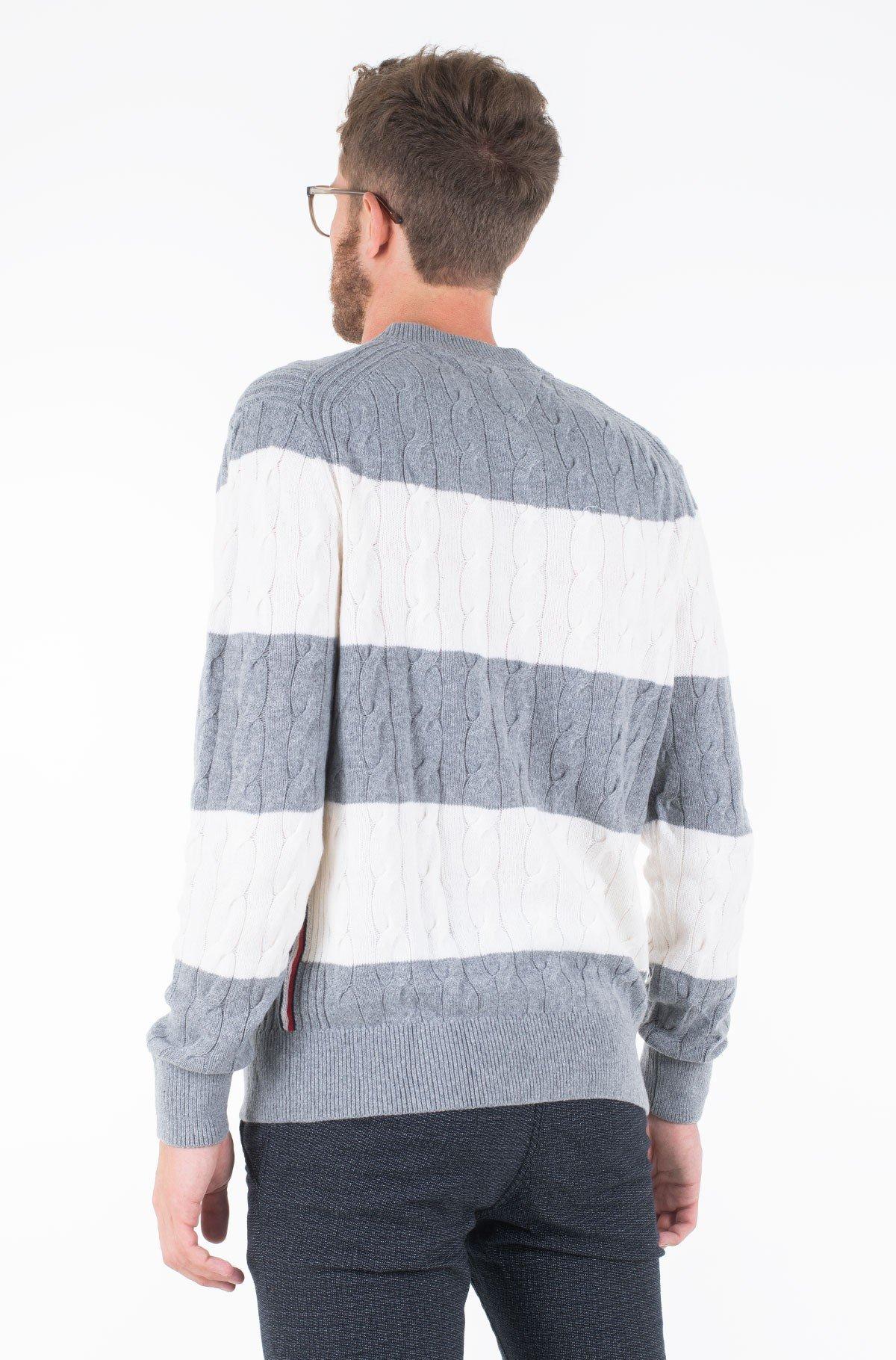 Džemperis BLOCK STRIPED CABLE SWEATER-full-2