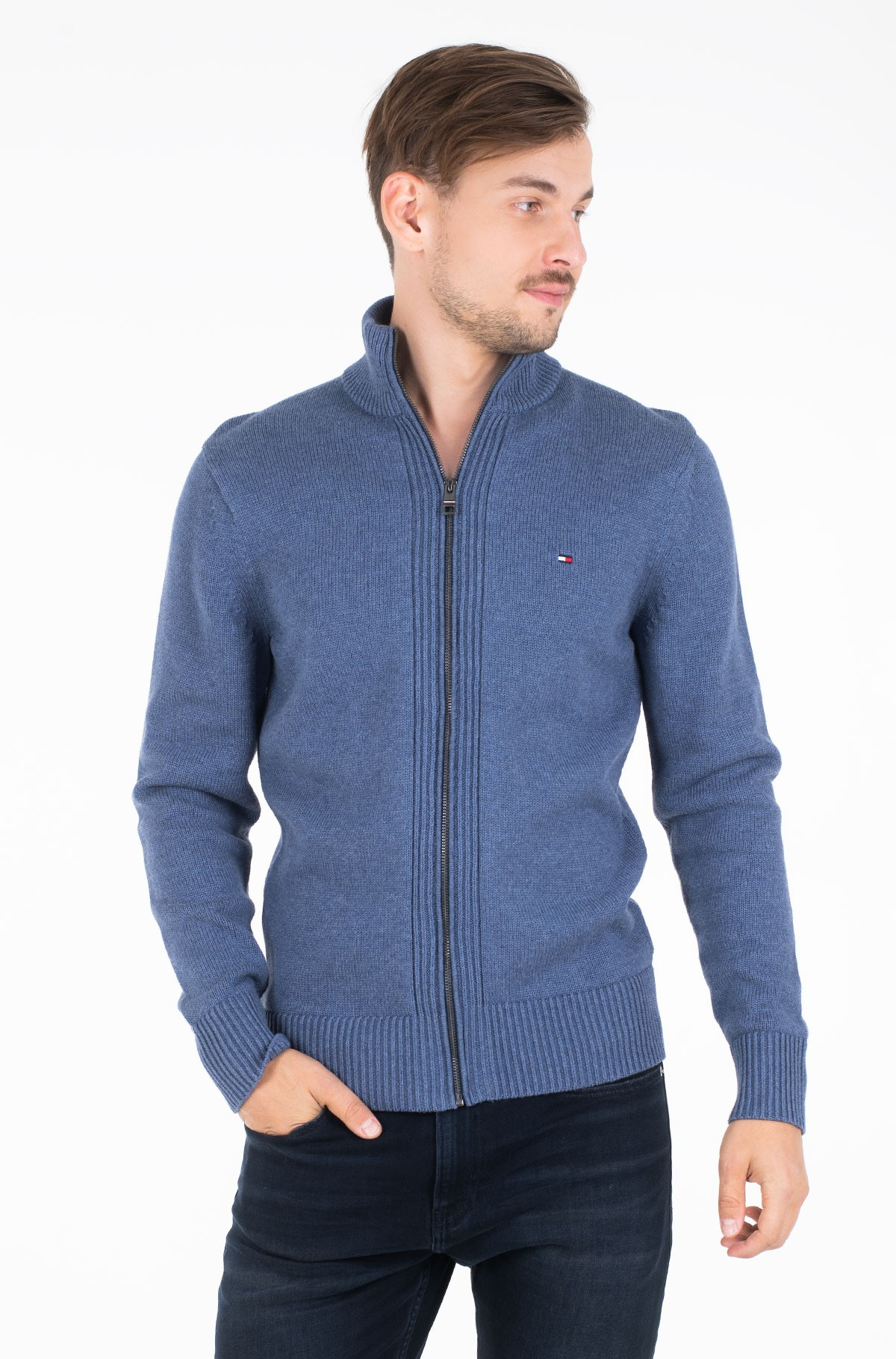 Kardiganas CHUNKY COTTON ZIP THROUGH-full-1