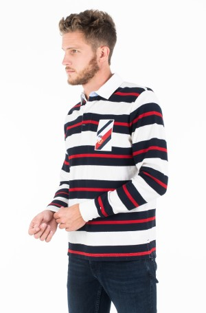 Long sleeved t-shirt TEXTURE MULTI COLOR STRIPE RUGBY-1