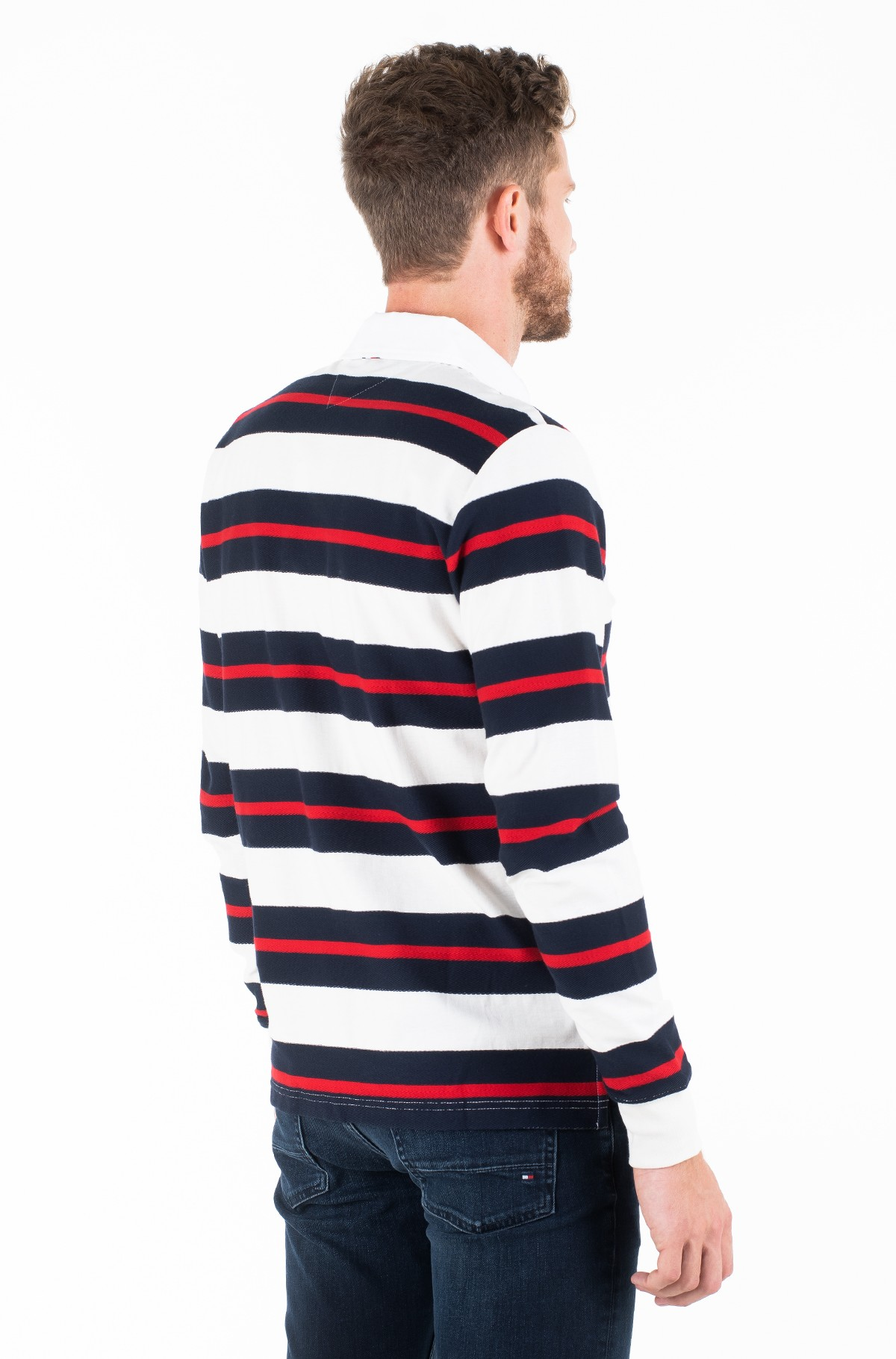 Long sleeved t-shirt TEXTURE MULTI COLOR STRIPE RUGBY-full-2