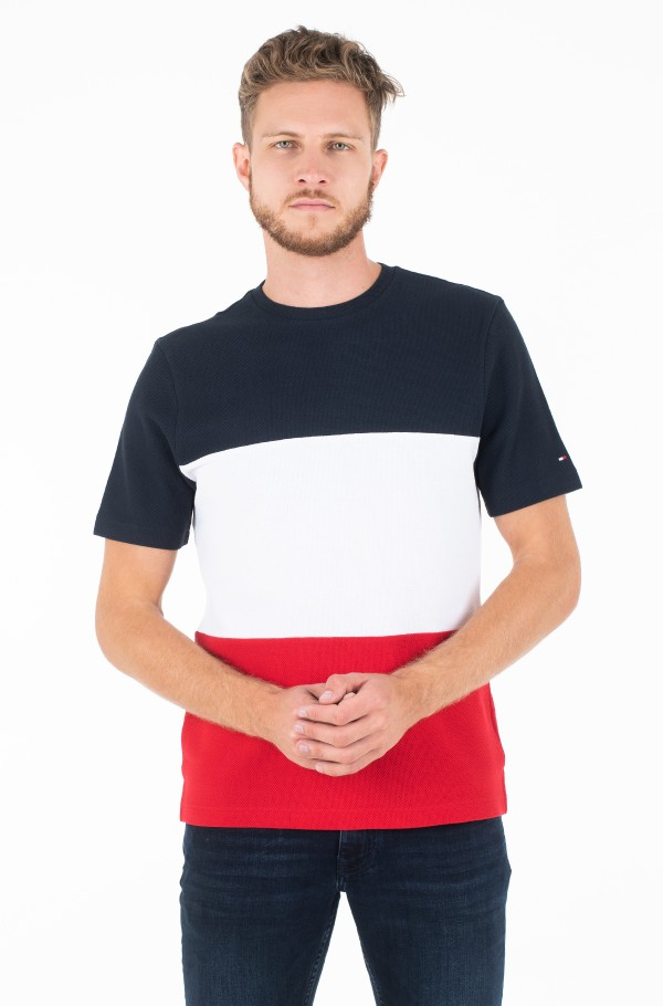 TEXTURED CUT AND SEWN TEE