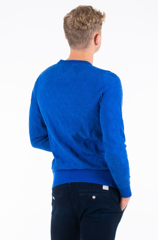 TONAL TEXTURED ARGYLE SWEATER-hover