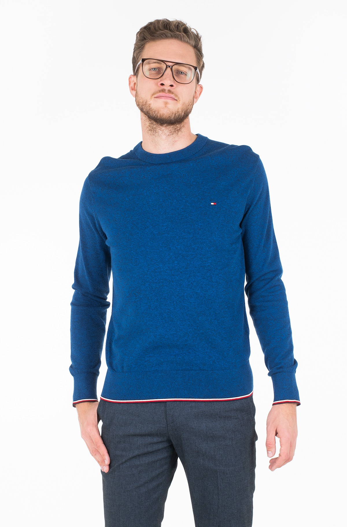 Džemperis TIPPED MOULINE CREW NECK-full-1