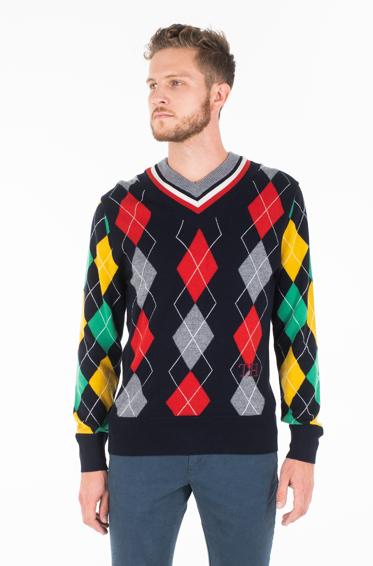 Sviiter ARGYLE CRICKET SWEATER-full-1